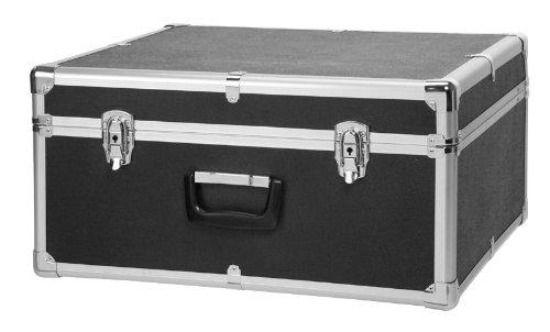 Classic Cantabile Akkordeonkoffer für 96 Bass Akkordeons (Hartkoffer, Gigbag Case, schwarz gepolstert, Tragegriff, Metallbeschläge, 4 Standfüße, Innenmaße ca. 48,5 cm x 54 cm x 25 cm)