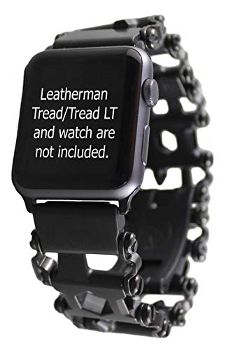 BestTechTool Kompatibel mit Leatherman-Edelstahl Adapter für Uhr mit Profilmuster Tread LT Apple-Uhr 44mm / 42mm