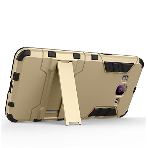 Galaxy J1(2016) Coque,EVERGREENBUYING Ultra Slim léger 2 en 1 J120 Cases Housse Etui Premium Kickstand Bumper Hard Shell Back Coque Case Pour Samsung Galaxy J1 (2016 Version) Rouge Gris