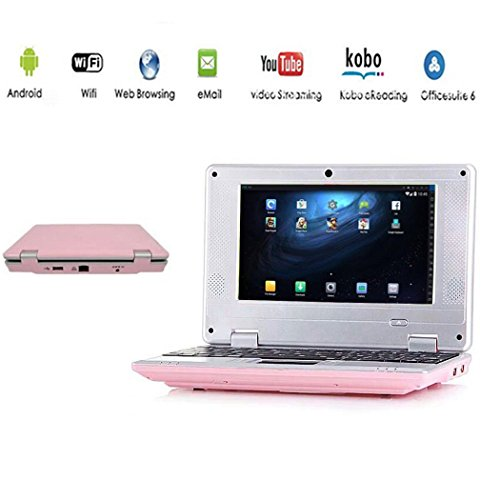"G-Anica Netbook Ordinateur portable HDMI écr.7.0""- (Wifi, Ethernet, 1.5GHz 4 Go RAM 512 Mo) Tablette - Google Android 4.4.2 - Rose"