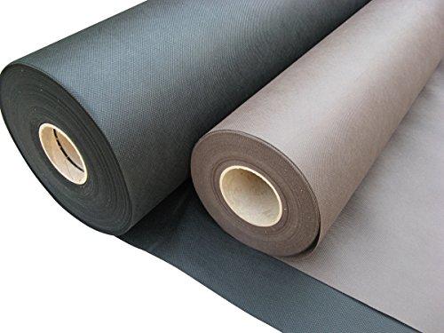 Masgard Spannvlies 80 g/m² auf Rolle Spannstoff Polsterstoff Vliesstoff - Verschiedene Abmessungen (1,95 m x 100,00 m, Schwarz)