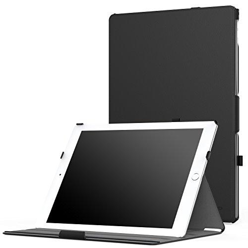 MoKo Funda para iPad Pro 12.9 - Slim-Fit Función de Soporte Foltable Smart Cover Case Con Cierre Magnético (Auto Sueño / Estela) para Apple iPad Pro 12.9 Pulgadas 2015 Tablet, Negro