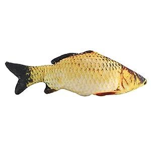 3D Fisch Kissen Zierkissen Karpfen Plüsch Stofftier Dekokissen für Heimtextilien Geschenk(40cm)