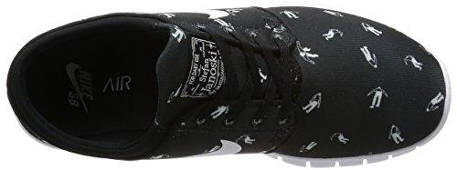 Nike Stefan Janoski Max Prm, Chaussures de Skate Homme Noir / Noir-blanc