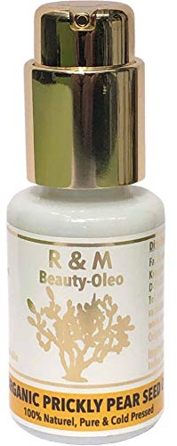 R&M Kaktusfeigenkernöl Bio - Premium Kaktusfeigenöl Für Gesicht, Körper, Haut & Haar - Prickly Pear Seed Oil Für Eine Schönere Haut Und Ein Reines Gesicht - Kaktusöl 30ml Pump-Flasche - 30-ml-pump-flasche