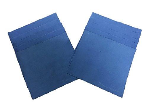 Charles Leonard Allzwecktuch Radiergummi, Reinigungstuch für Whiteboards, Glas und elektronische Bildschirme, 17,8x 19,7cm, blau, 10er Pack (74570)