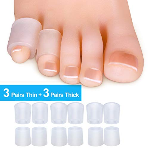 Sumifun Protectores de gel para dedos de los pies