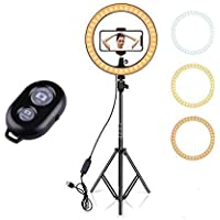 SAIELLIN 18 Inch Big LED Ring Light with Tripod Stand and Wireless Shutter Button   Dimmable Studio Lighting with Phone…