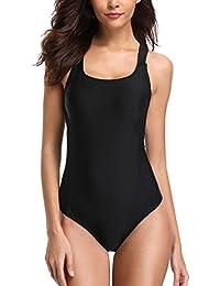fb6bf0ed30141c CharmLeaks Damen Einteiliger Sport Badeanzug Essential Endurance  Schwimmanzug Basic