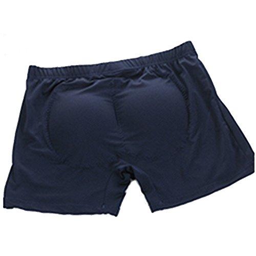 17bf22ce265 Uomo culo hip-up biancheria intima Men s Padded Buttocks Enhancer Boxers  Underwear Cotton (S