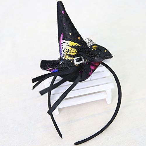Beängstigend Hexe Kostüm - bdrsjdsb 1 Stück Halloween Mädchen Geschenk Hexenhut Knoten Haarband Haarnadel Kopfbedeckung Cosplay Party Requisiten Schwarze Hexe