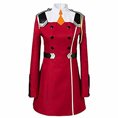 Zero Two Cosplay Kostüm 02 Uniform Suit Damen Red Cosplay Kleid Halloween Fancy Dress Kleidung Merchandise