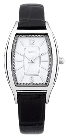 OASIS Women's Quartz Watch with White Dial Analogue Display and
