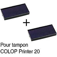 2cinta de tinta recarga para sello Colop Printer 2038x 14mm–azul