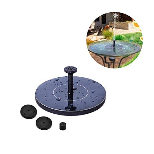 MR. LD 1.4W Solar Vogel Bad Brunnen, Mini Wasserpumpe für Garten und Hof, Flow 150L/H, Outdoor Bewässerung Tauchpumpe