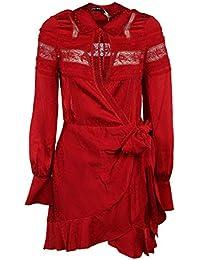 b676405f6b4d SELF-PORTRAIT Vestito Donna SP21045RDARKRED Viscosa Rosso