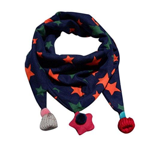 Fuibo Baby Schal, Winter Schal Mode Baby Schal Junge Mädchen Halstuch Kopf Hals Kind Schals (Navy) (Kopf Snood)