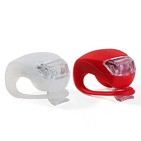 VeloChampion Quick Fix Bike Light Set - Vordere und hintere Silikonleuchten (Torch Light 2)
