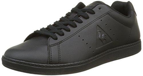 Le Coq Sportif Courtone S Lea Sneaker da Uomo, Colore Nero (Black/BlackBlack/Black), Taglia 44 EU (10 UK)