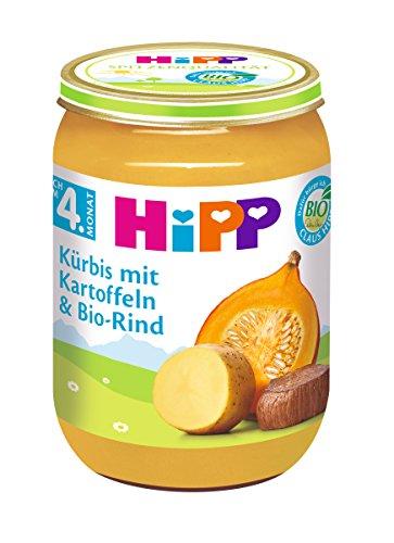 HiPP Kürbis mit Kartoffeln und Bio-Rind, 6er Pack (6 x 190 g)