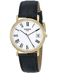 Tissot - Reloj de pulsera hombre, piel, color negro