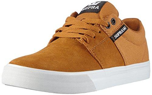 Supra STACKS VULC II, Scarpe da Skateboard uomo, Marrone (Braun (CATHAY SPICE / BLACK - WHITE SPI)), 44
