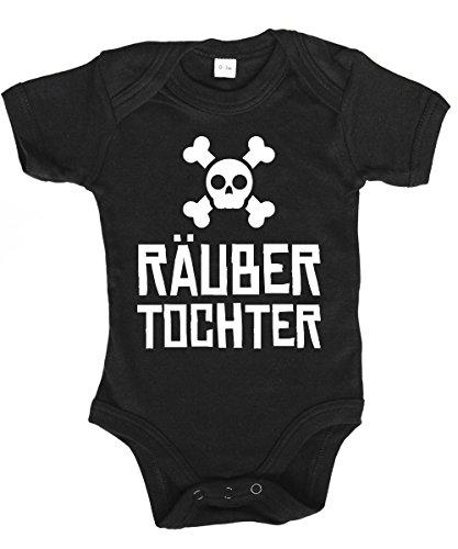 chter - Babybody Schwarz, Größe 0/3 Monate ()