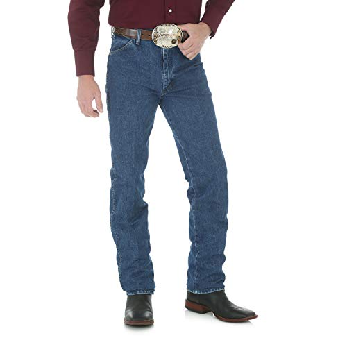 Wrangler Men's Tall Slim Fit Cowboy Cut Jean Prewashed Indigo Denim - Tall Men Wrangler Jeans