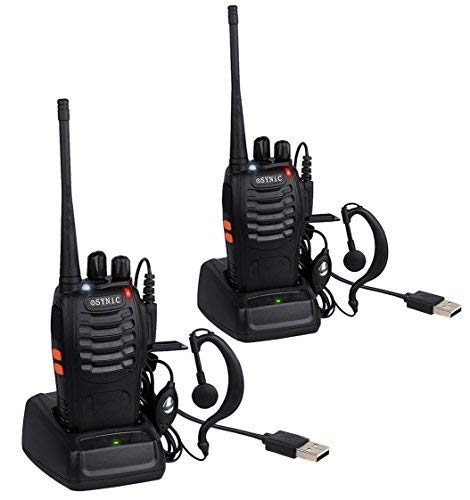 ESYNiC Paio Walkie Talkie Lunga Distanza Due-Via Radio UHF 400-470MHz con Auricolari...