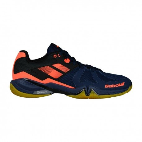 Babolat Badmintonschuh Shadow Spirit Men 2018 Blau/Orange (40)