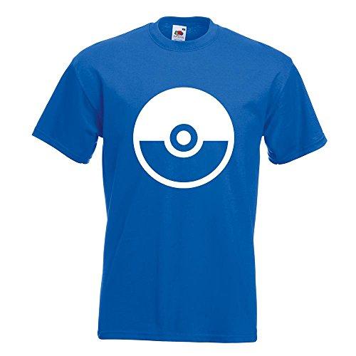 KIWISTAR - Pokeball - Meisterball - Catch them all T-Shirt in 15 verschiedenen Farben - Herren Funshirt bedruckt Design Sprüche Spruch Motive Oberteil Baumwolle Print Größe S M L XL XXL Royal