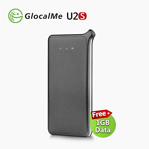 Price comparison product image GlocalMe 4G Mobile Wifi Hotspot Router,  No SIM Card. Free roaming network in over 100 countries with 1GB initial global data U2S-Grey