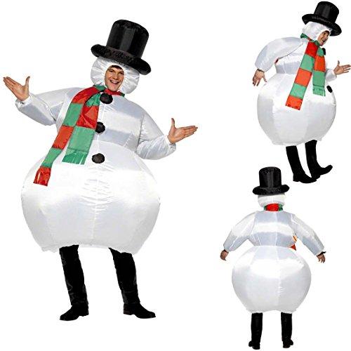 Imagen de traje hinchable atuendo muñeco de nieve inflable bola de nieve para hinchar vestimenta divertida de carnaval disfraz carnavalero adulto vestido navidad hombre