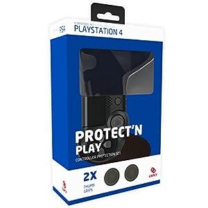 CAPCY PlayStation 4 Controller Silikon Schutzhülle mit 2x PS4 Analogstick Thumb Grips (schwarz)