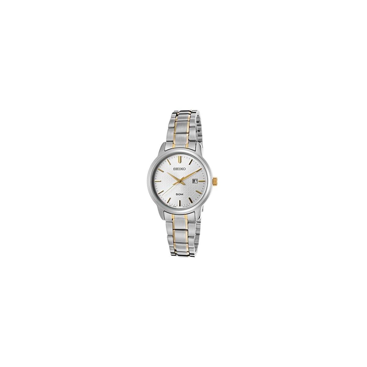 41Nnx6gAl0L. SS1200  - Seiko Reloj Analogico para Mujer de Cuarzo con Correa en Acero Inoxidable SUR745P1