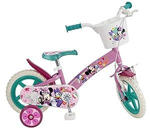 TOIMSA 609 EN71 - Bicicleta Infantil con Licencia de Minnie Mouse de 12 Pulgadas, de 3 a 5 años, Color Blanco