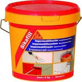 Sika 510167 Revestimiento Elástico de Consistencia Cremosa, Rojo, 5 k