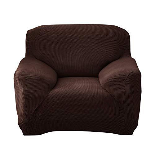 Ericcay Einsitzer Sesselbezug rutschfeste Sofabezug Sesselhusse Sofahusse Elastischer Aus Stricken Unikat 90 140 cm (Kaffee) (Color : Colour, Size : Size)