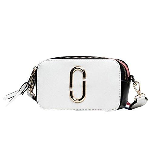Handtaschen Umhängetasche Messenger Bag Mode Einfache Eleganz Atmosphäre White