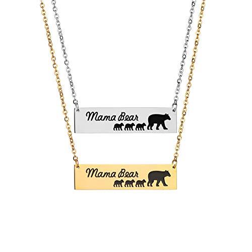 I cub Muster anhänger, Baby Halskette Damen schmuck Geburtstagsgeschenk Reise zubehör 316 Titanium Stahl Kette,Gold ()
