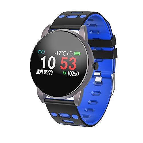 Smartwatch, Fitness Tracker mit Pulsmesser Blutdruckmessung Wasserdicht IP67 Fitness Uhr Blutdruck Messgeräte Pulsuhr Schrittzähler Uhr für Damen Herren Anruf SMS SNS Beachten