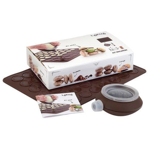 Lékué 3000001SURM017 - Kit para macarons, color marrón oscuro