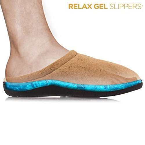 Welzenter Relax Gel, Zapatillas de Estar por Casa con Talón Abierto Unisex Adulto, Marrón (Marrón 106), 42-44 EU