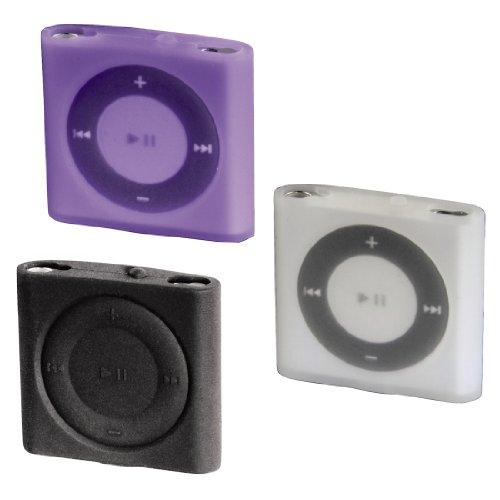 Hama Sport Case MP3 Taschen Set für Apple iPod shuffle 4G schwarz/lila