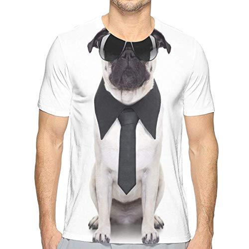 3D gedruckte T-Shirts, Coole schauende Hundekrawatte und großes fantastisches schwarzes Sonnenbrille-lustiges Hunde- Tierkomödien-Bild
