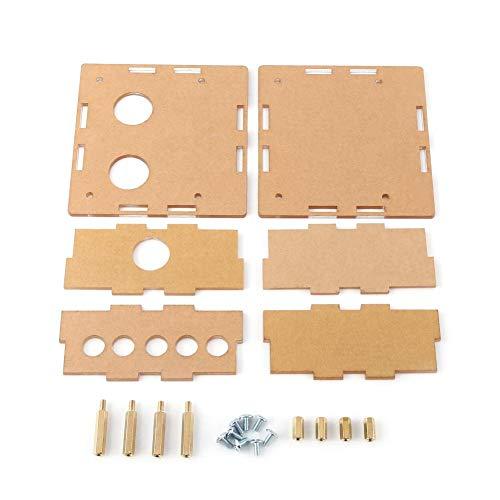 Acryl DIY Fall Shell Gehäuse Schutzteile Kit mit Abstandsbolzen und Schrauben für 6J1 Ventil Röhrenverstärker Board -