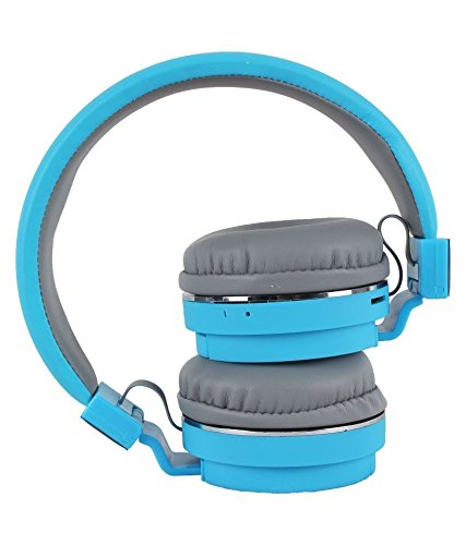 SH-12 wireless headphones stretchable foldable with Bluetooth and inbuilt microphone and SD card slot(Blue) Image 5