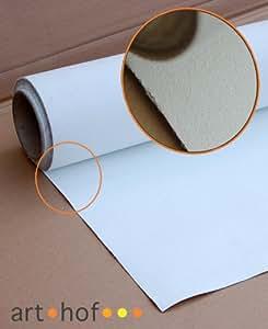 Premium Leinwand auf Rolle 1,8 x 5 Meter zum Malen fertig grundiert 340 g/m²