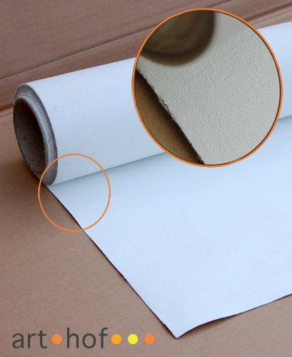 Cotton Canvas Premium Leinwand auf Rolle 1,8 x 5 Meter zum Malen fertig grundiert 340 g/m²