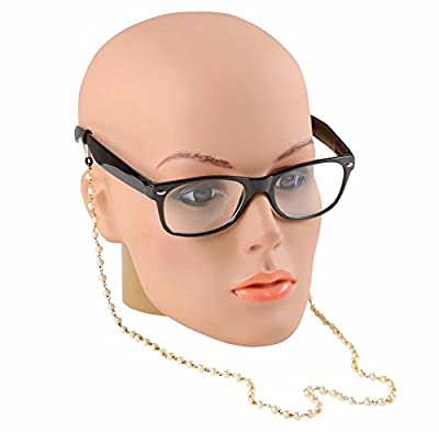 Studio Shringaar Women's Beaded Eyeglass Sunglass Spectacle Cord and Lanyard Neck Strap String Chain Link Holder 74cm (Pearl)